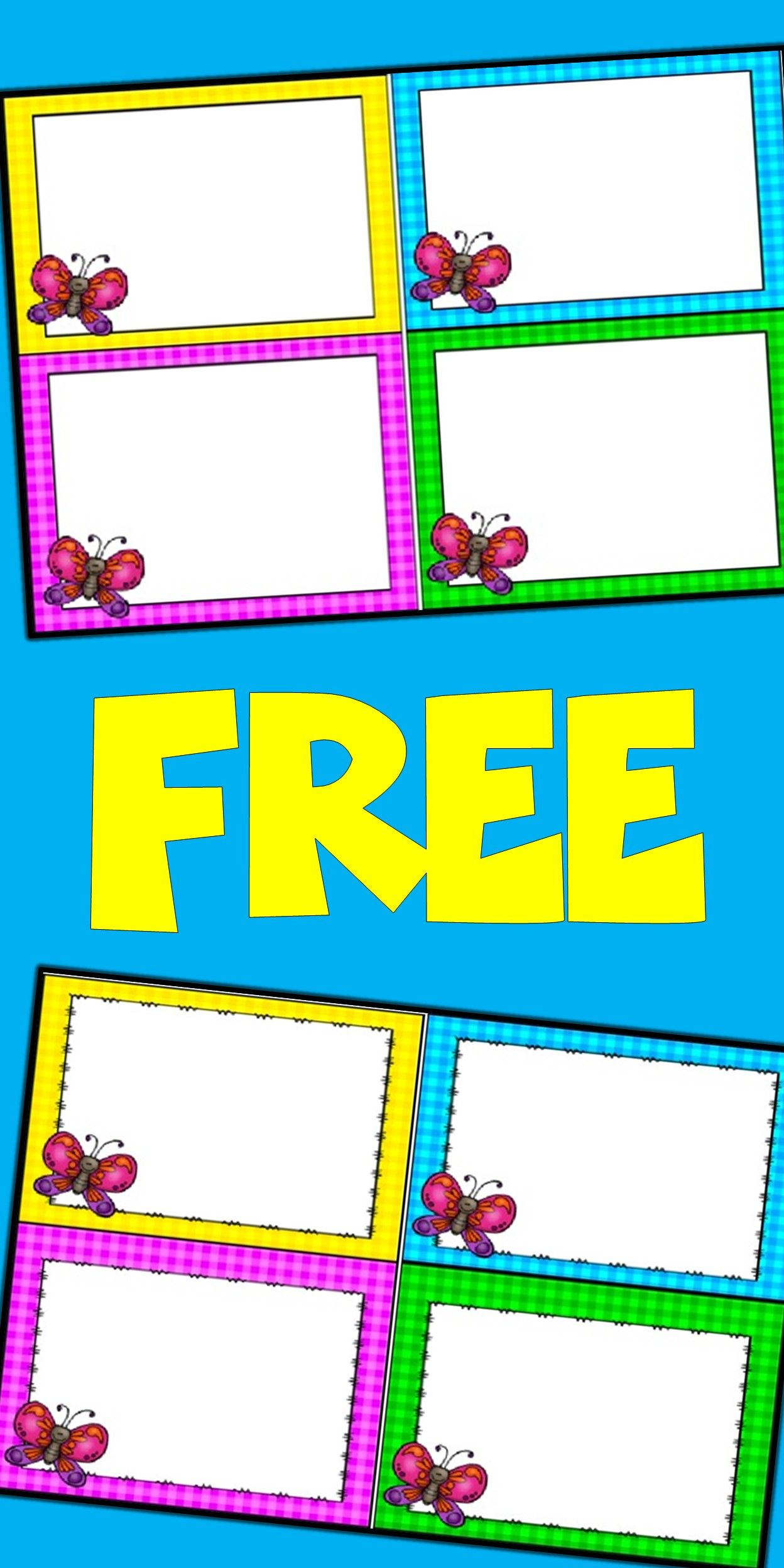 Free Editable Spring Card Templates Butterflies Pinterest Card