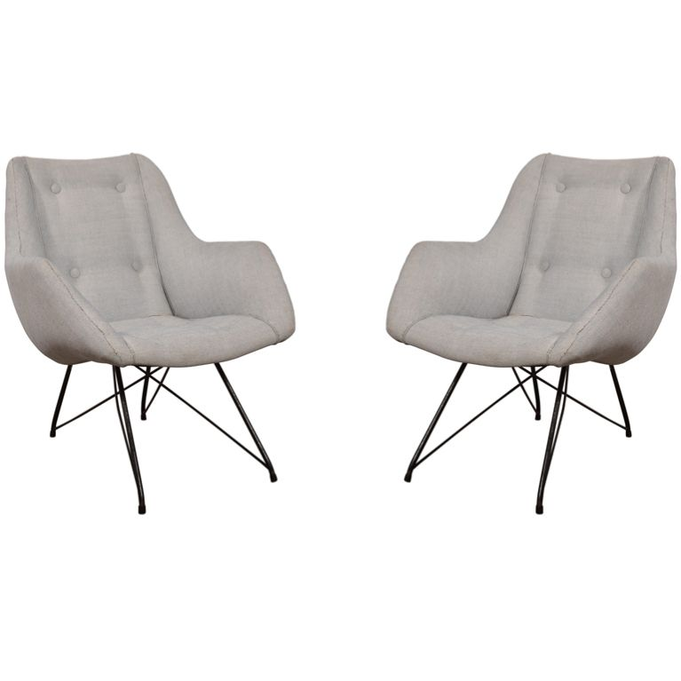 Carlo Hauner - Lounge Chair, Pair
