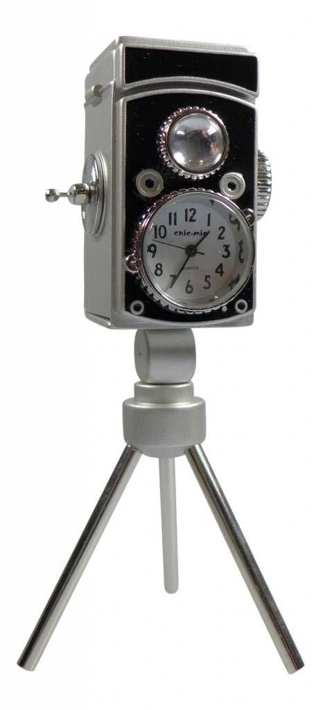 ChicMic Miniaturuhr, Miniatur Uhr - Filmkamera - Vintage Uhr - Sammleruhr - 13 cm hoch