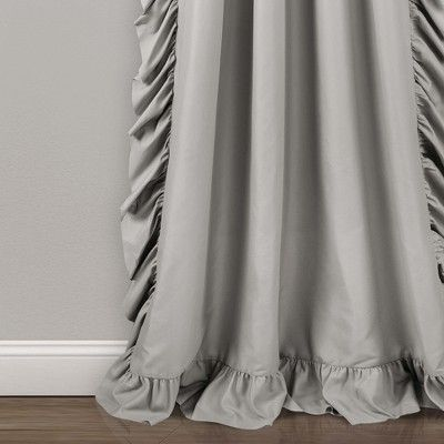 84 X54 Reyna Window Curtain Panels Light Gray Lush Decor With