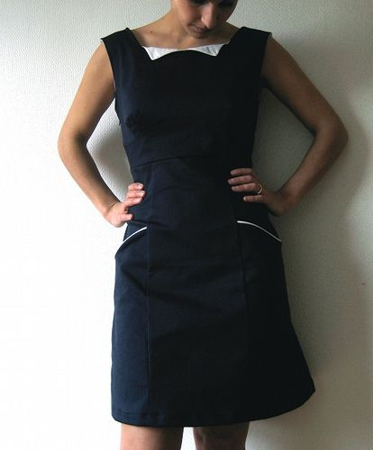 Colette patterns Rooibos dress by My daruma | Pinterest