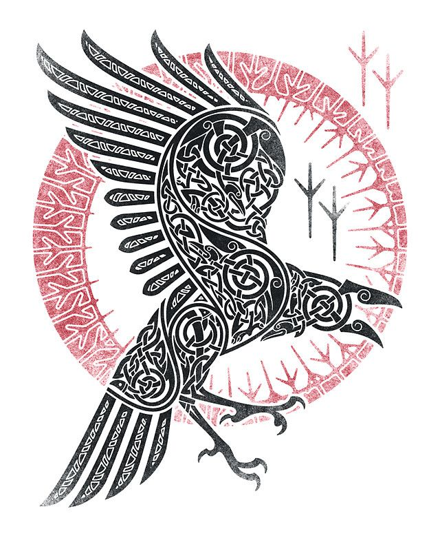 Norse Raven Tattoos : norse, raven, tattoos, RAGNAR'S, RAVEN', Sticker, RAIDHO, Norse, Tattoo,, Nordic, Viking, Tattoos