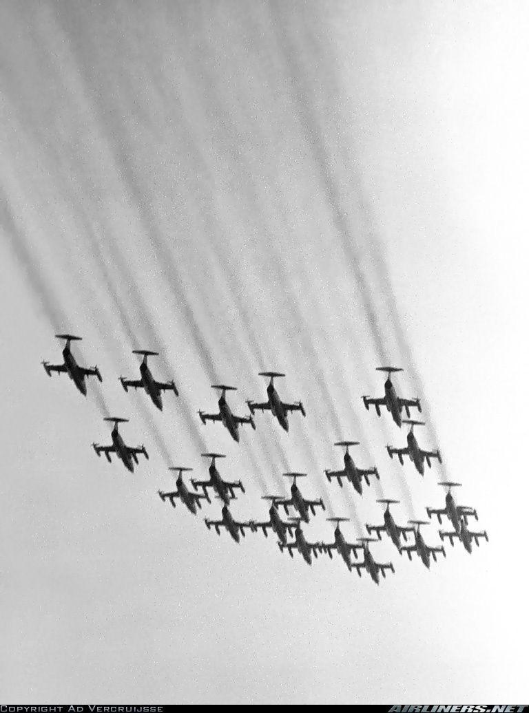 Dutch 104s howl in a splendid formation, back in 1980.