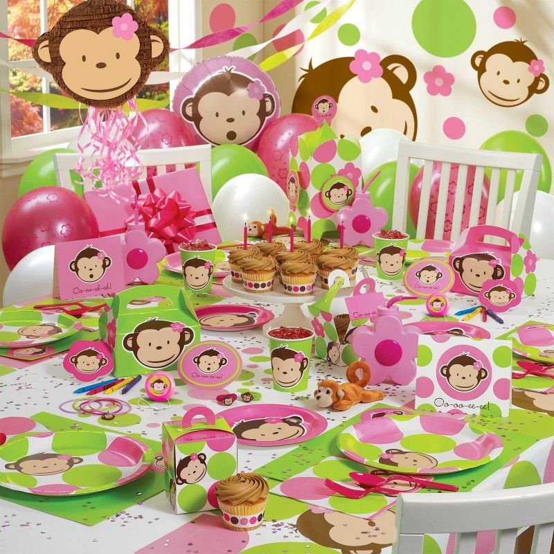Mod Monkey Birthday Auroras Birthday Party Pinterest Mod