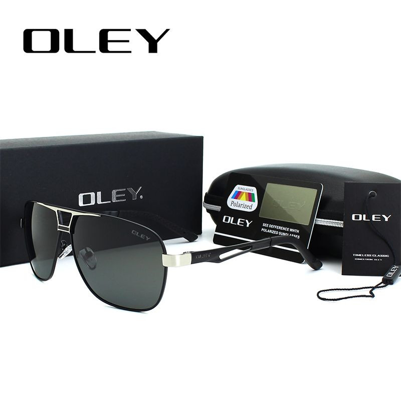 5c294ccdeb5 OLEY Classic Polarized Rectangle Sunglasses for men HD Polarized Aluminum  magnesium Driving fishing Sun glasses Y7410