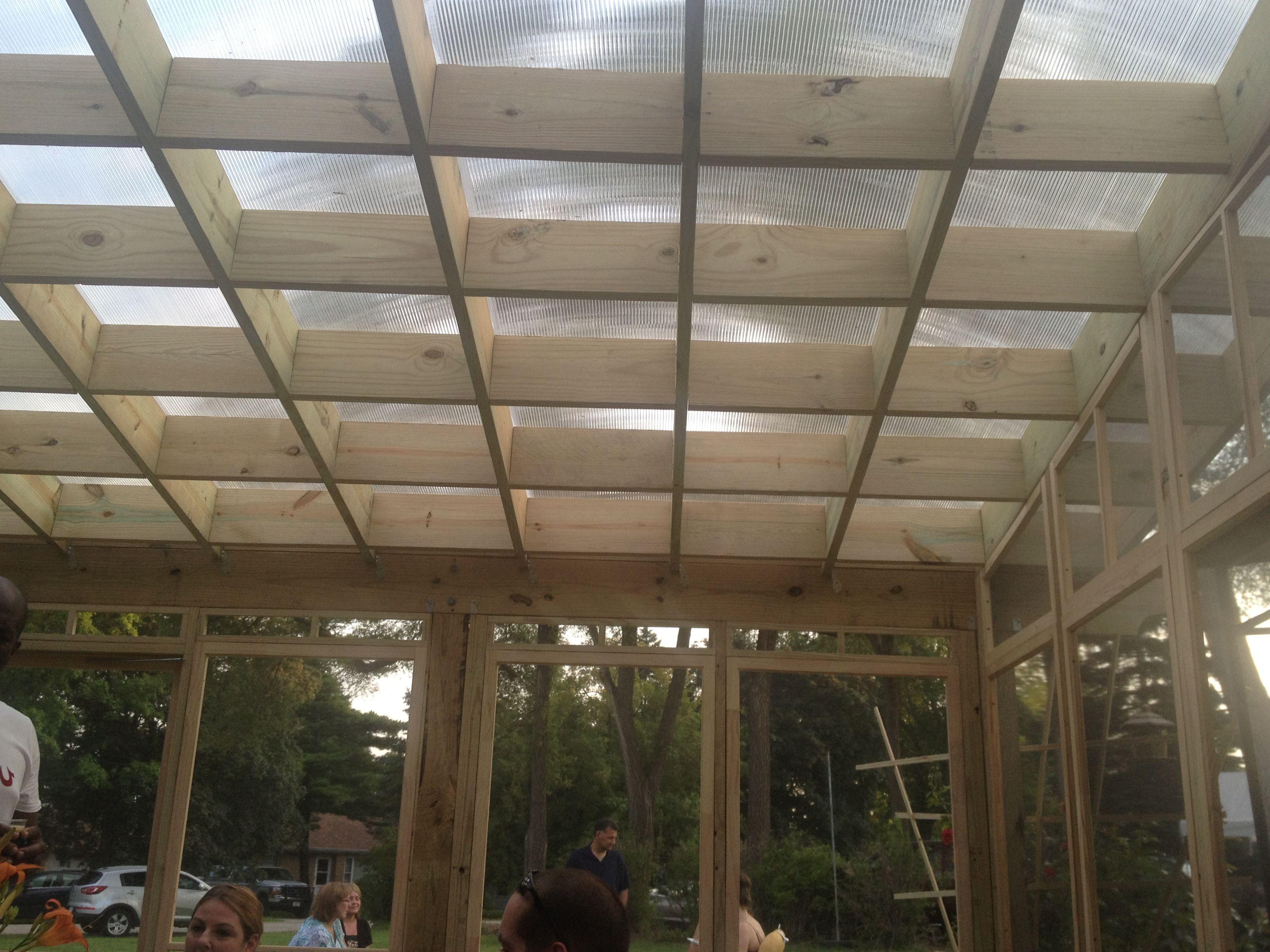 Pergola Roof Polycarbonate Panels