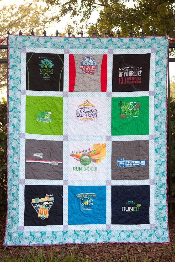 Running T-Shirt Quilt by Katie Mae