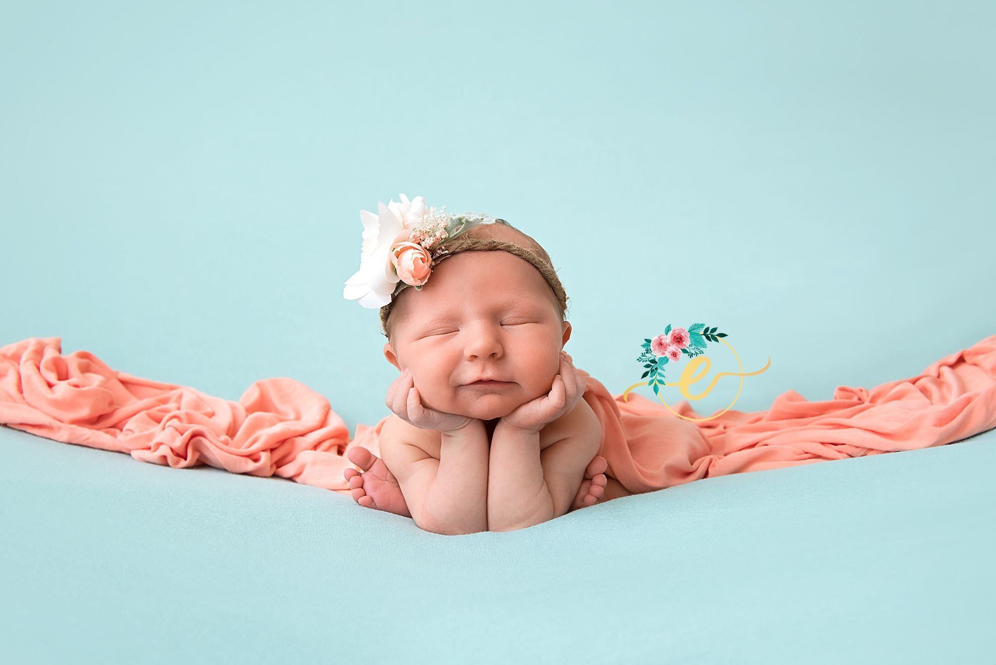 Newborn photography newborn girl frog pose easleylifephotography newborn