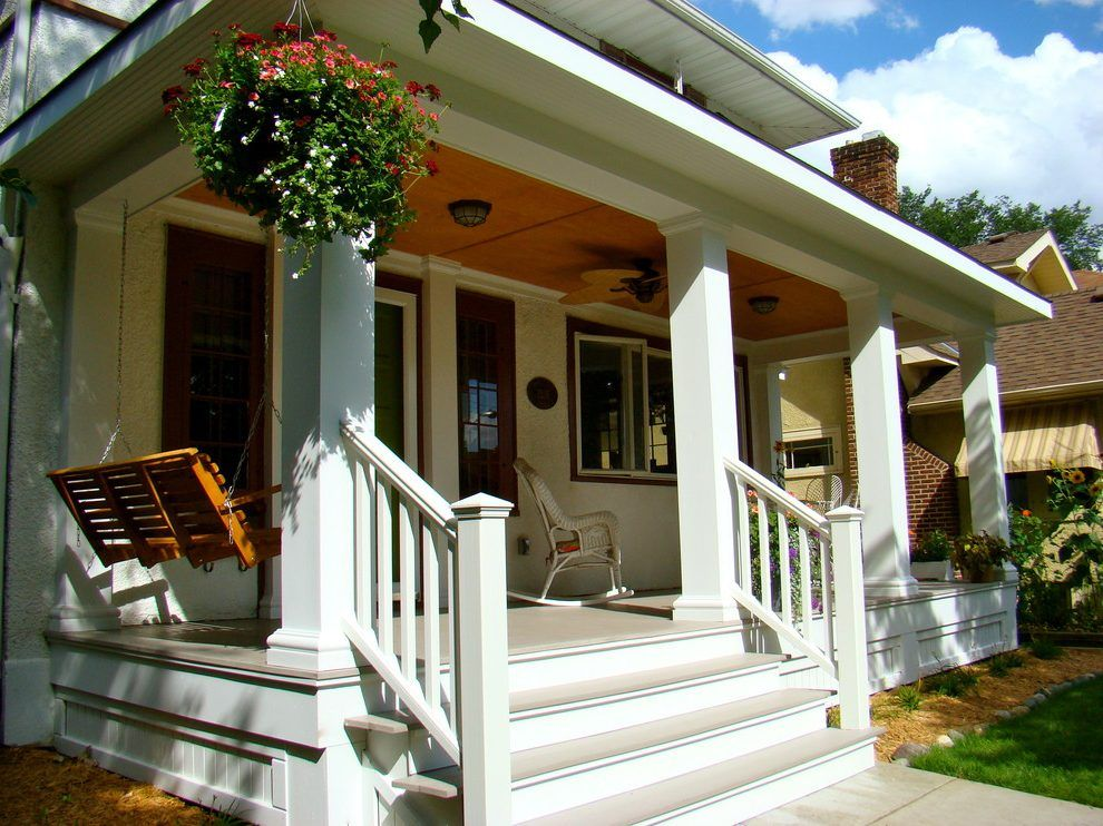 Beautiful Front Porches Porch Traditional With Staircase Natural Finish Swings Banister Handrails