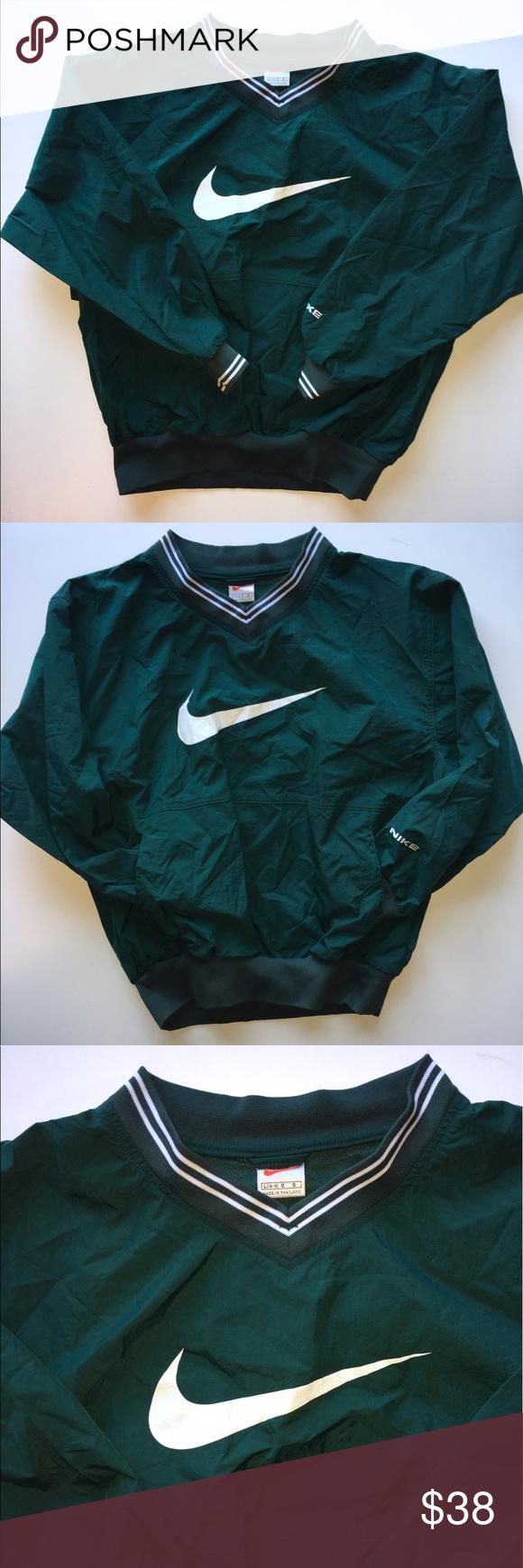 Vintage Nike Forest Green Pullover Nike Windbreaker Jacket Clothes Vintage Nike [ 1740 x 580 Pixel ]