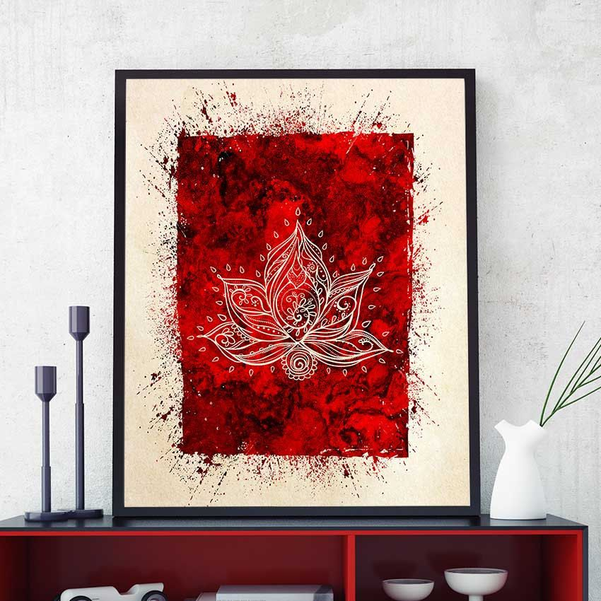 Yoga Wall Art lotus flower wall art, lotus flower print, lotus flower painting
