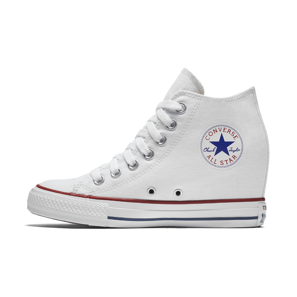 b303037ea75 Converse Chuck Taylor All Star Lux Wedge Mid Women s Shoe Size 10.5 (White)