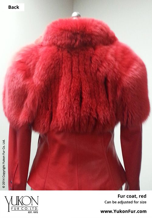 Fur Coat, Red Can be adjusted for size  http://www.yukonfur.com/wp/product/fur-coat-red  For details call +01.416.598.3501 or email Chris, chris@yukonfur.com