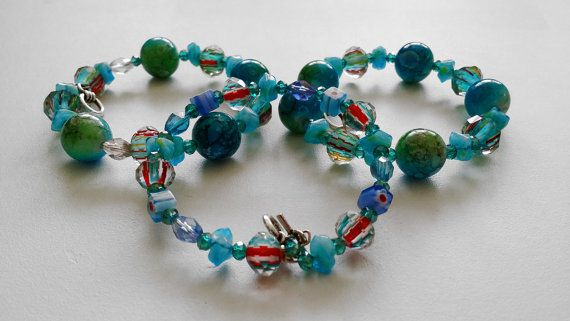 Hey, I found this really awesome Etsy listing at https://www.etsy.com/listing/218567584/carribean-blue-glass-bead-bracelet