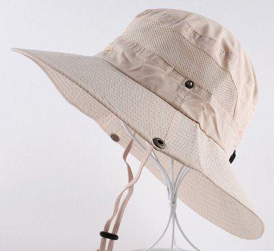 Mens Summer Bucket Hats Outdoor Fishing Wide Brim Hat UV Protecction Cap Men Hiking Sombrero Sun Hat