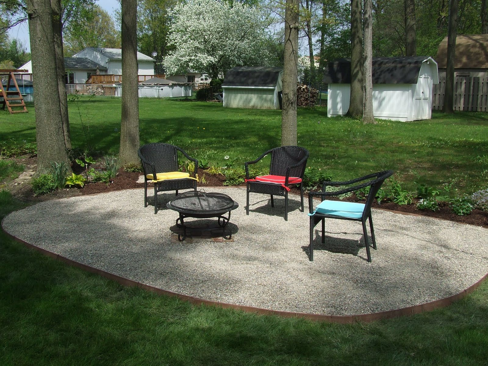 pea gravel patio design - Garden Design Gravel Patio
