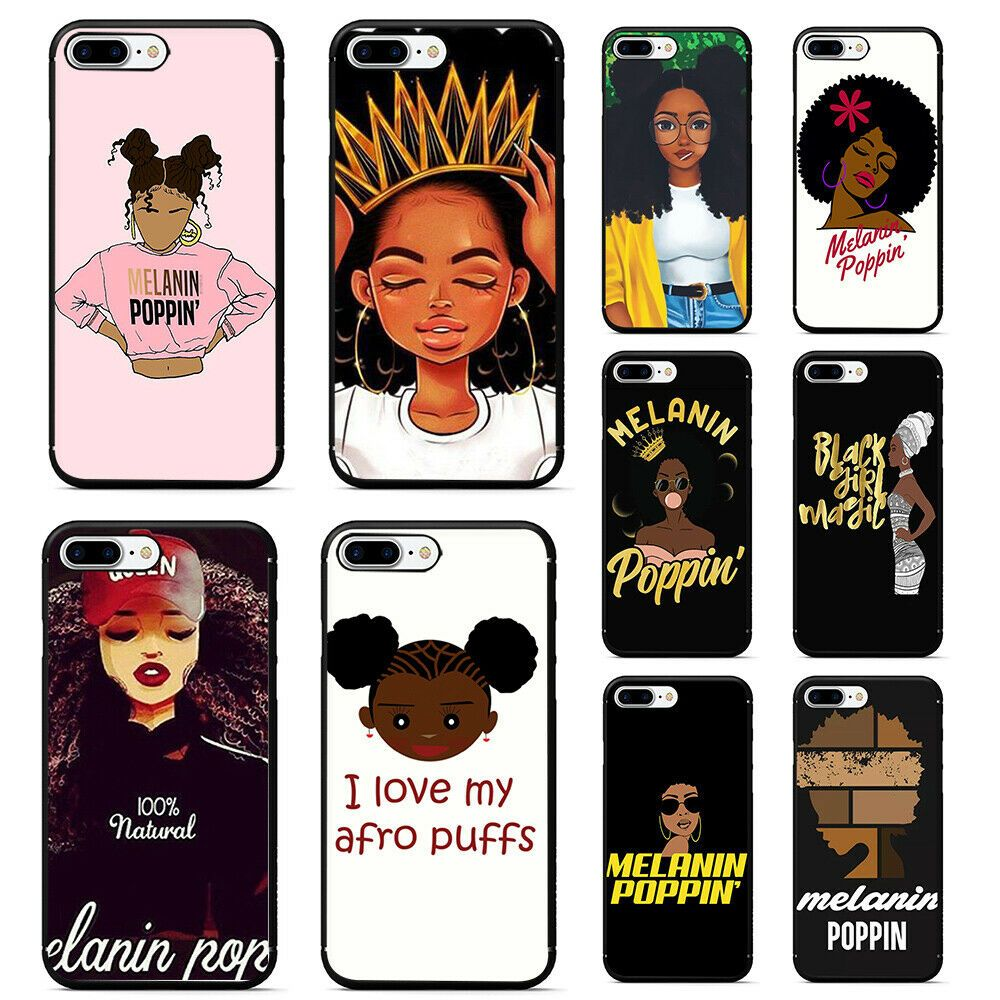Melanin Poppin Aba Girl Soft Tpu Black Phone Case For Iphone Xs Max Xr X 8 7 6 Afflink Black Phone Case Girl Iphone Cases Iphone Cases