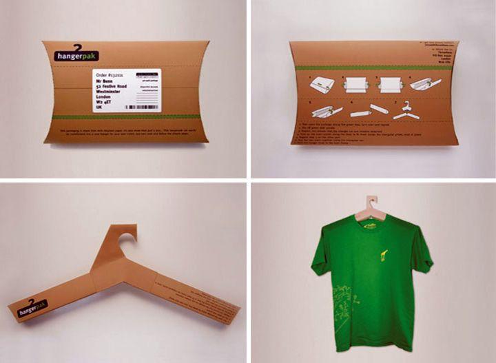 increible diseño de empaque de ganchos para la ropa | empaques