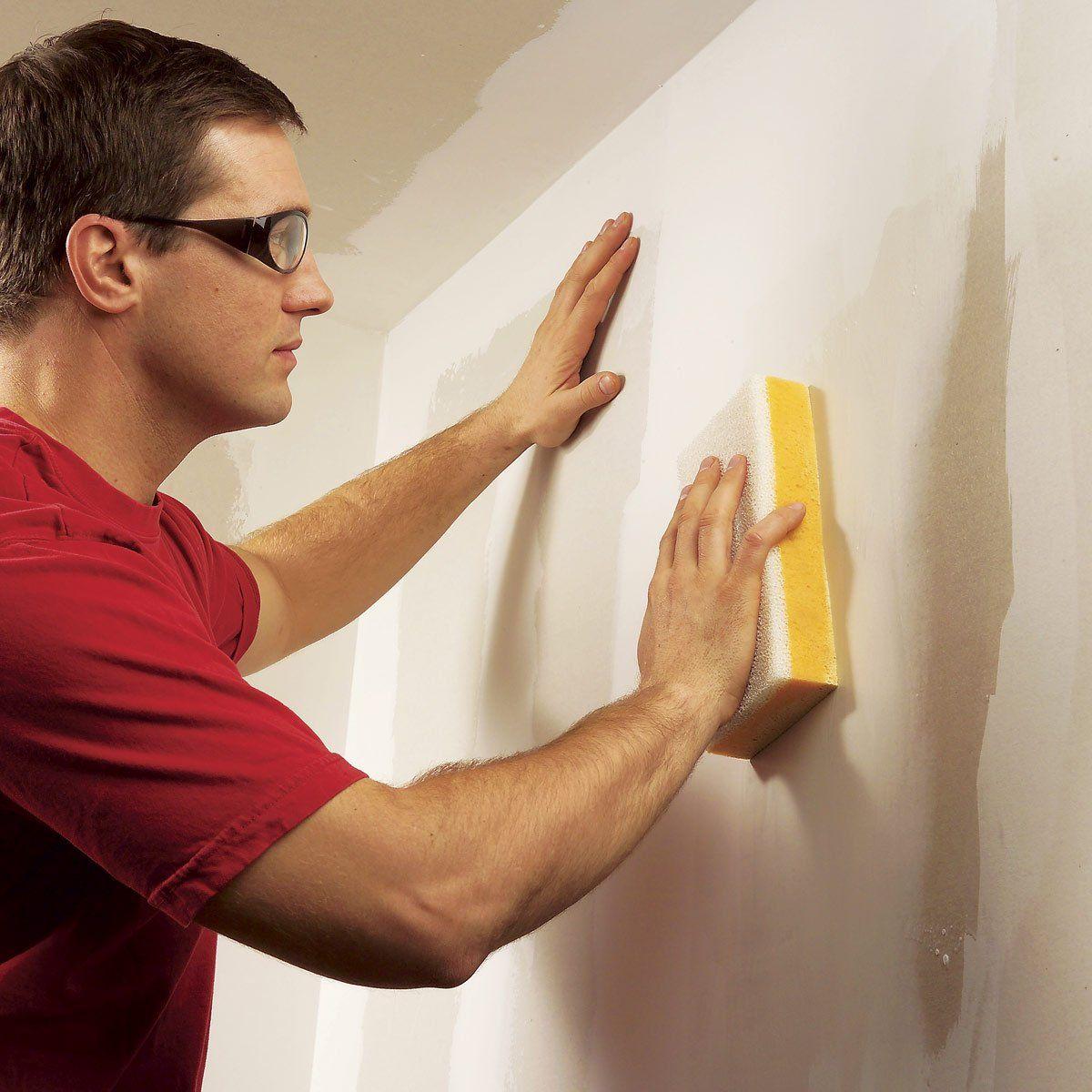 Wet Sanding Drywall In 2020 Drywall Repair Drywall Drywall Finishing