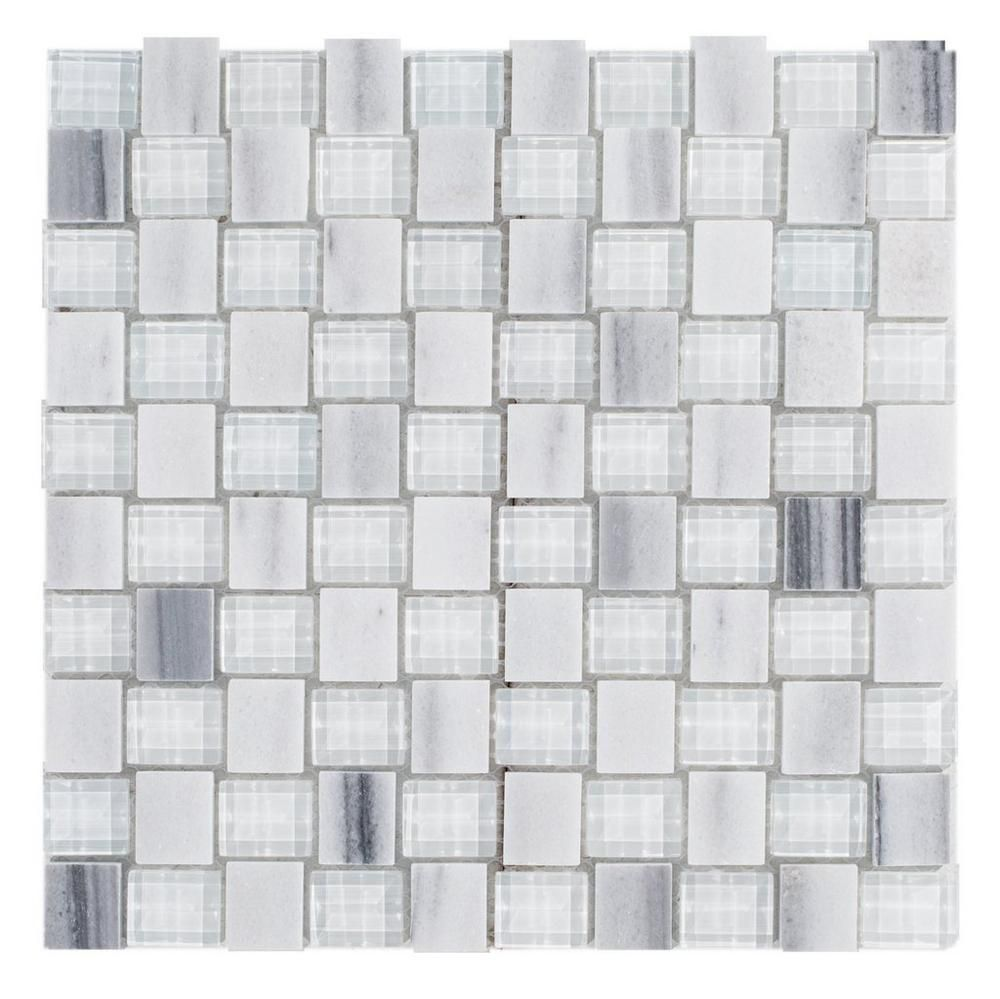 $12 12x12 Clearance Seaspray Glass Mosaic - 12in. x 12in ...