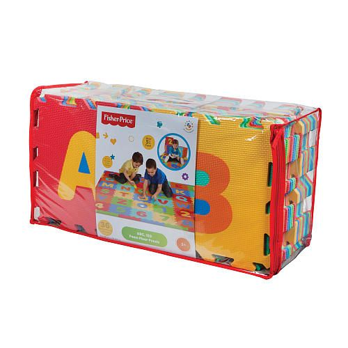 Fisher Price 36 Piece Alphabet And Numbers Foam Puzzle Mat Puzzle Mat Alphabet And Numbers Playroom Flooring