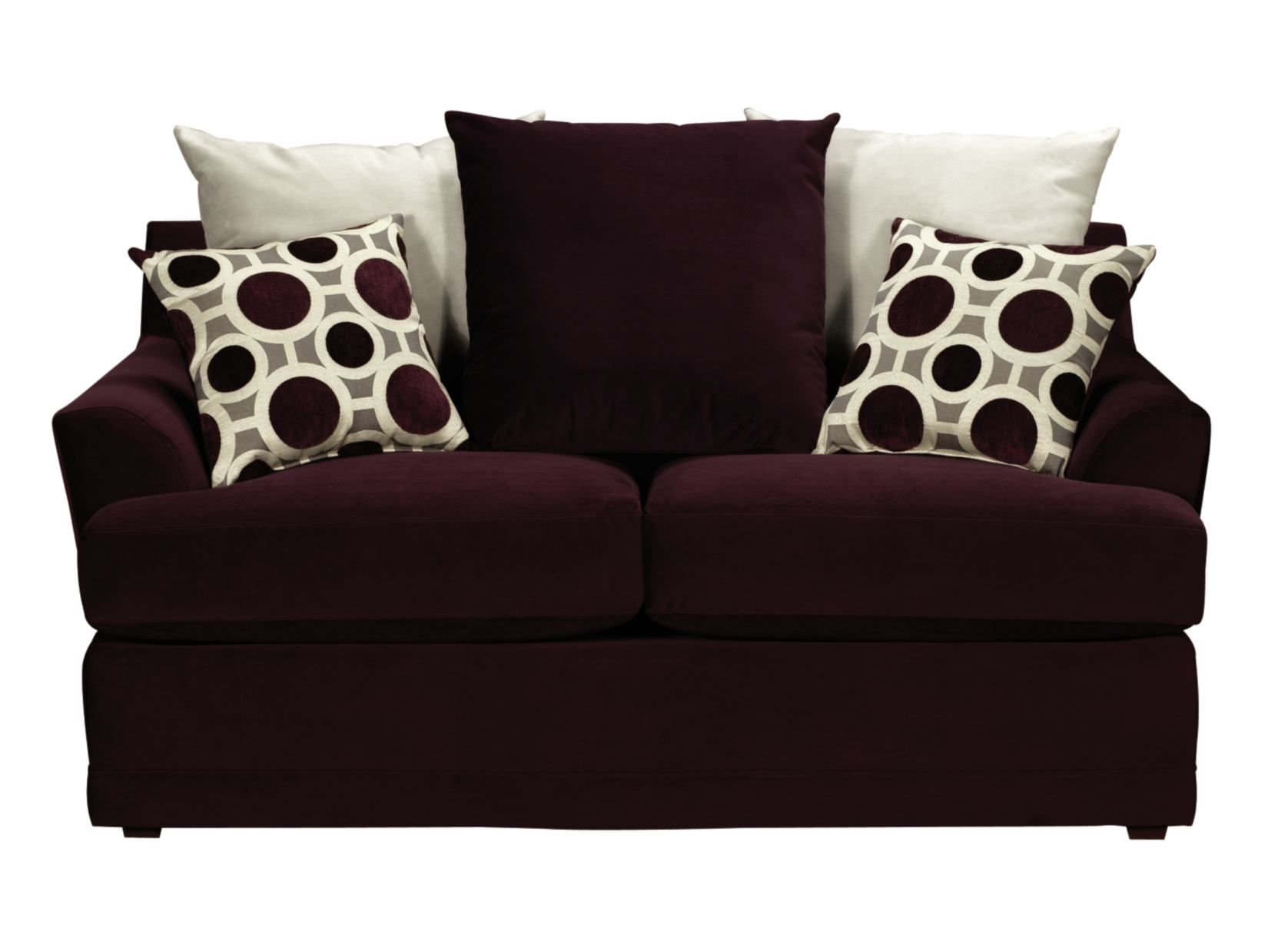 shipping overstock today classic product chesterfield plum nailhead loveseat garden home free
