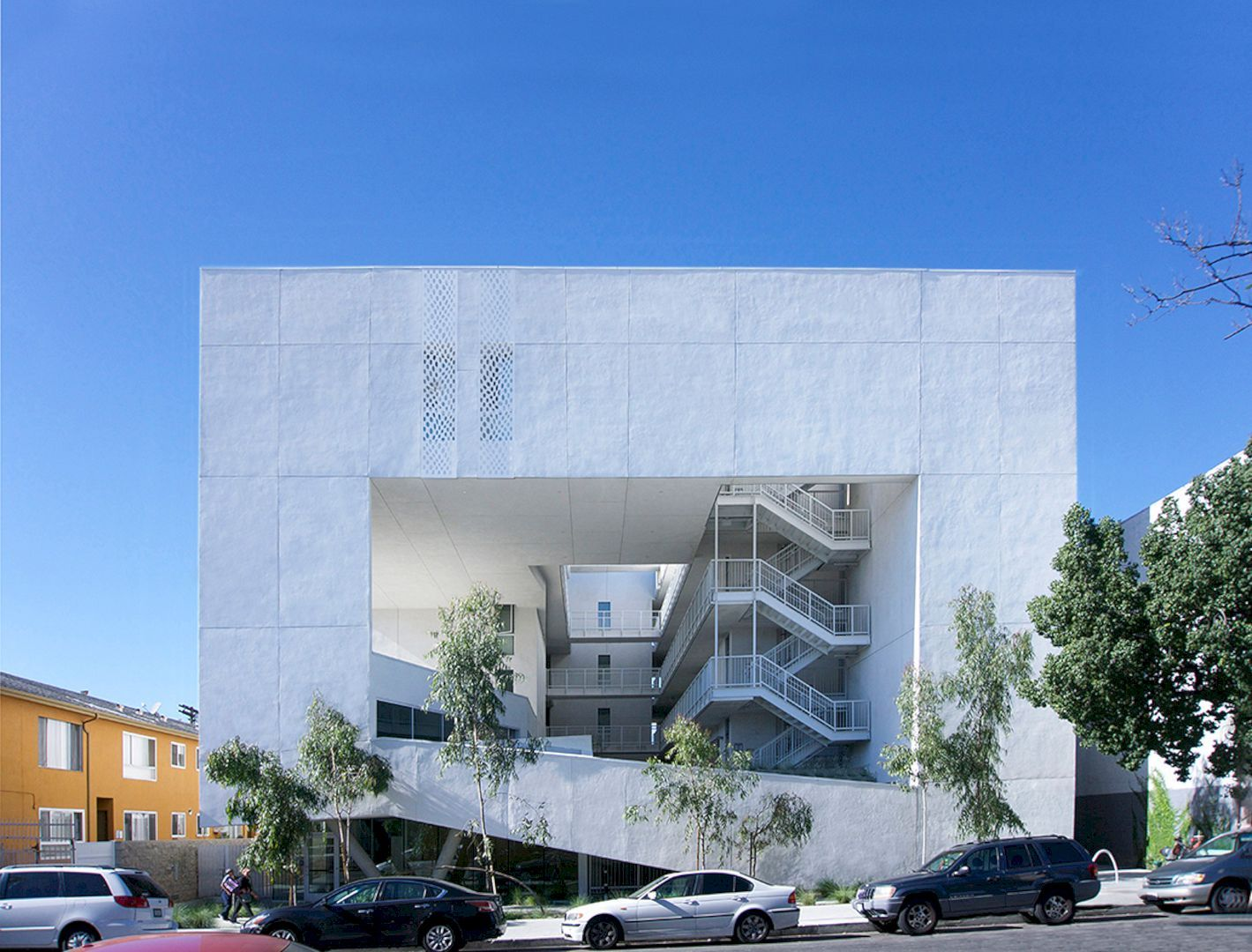 The Six Apartments Affordable Housing With Support Services And Rehabilitation For Disabled Veterans Modern Architecture Building Social Housing Architecture Architecture
