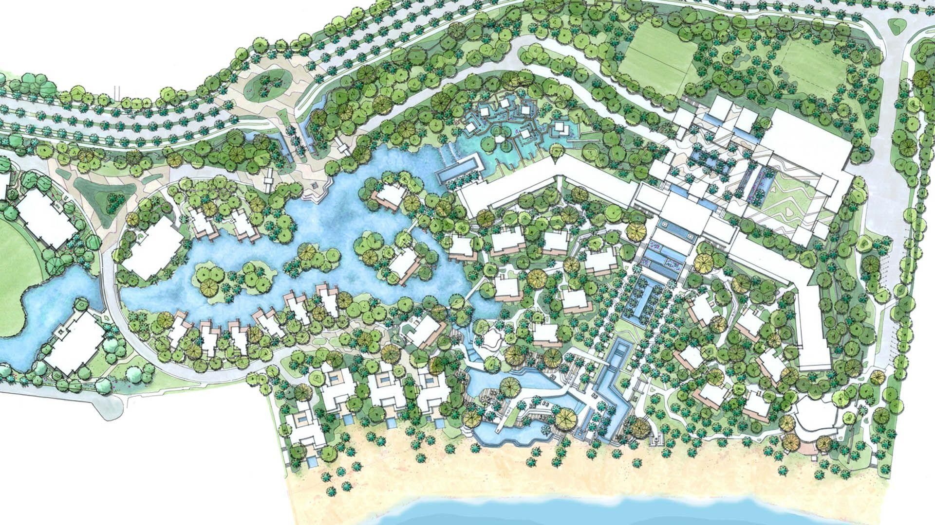Pe Cabo De Santo Agostinho Reserva Do Paiva Four Seasons Paiva Hotel Resort Landscape Plans Resort Plan Landscape Design Plans