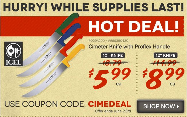 Hot 3 Day Deal On Cimeter Knives If You Love Bbq You Ll Love Our Large Professional Cimeter Knives For Meat Chopping 10 For 5 Coupon Codes Coding Coupons