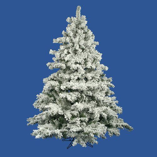 75 Flocked Alaskan Artificial Christmas Tree Unlit ** You can find