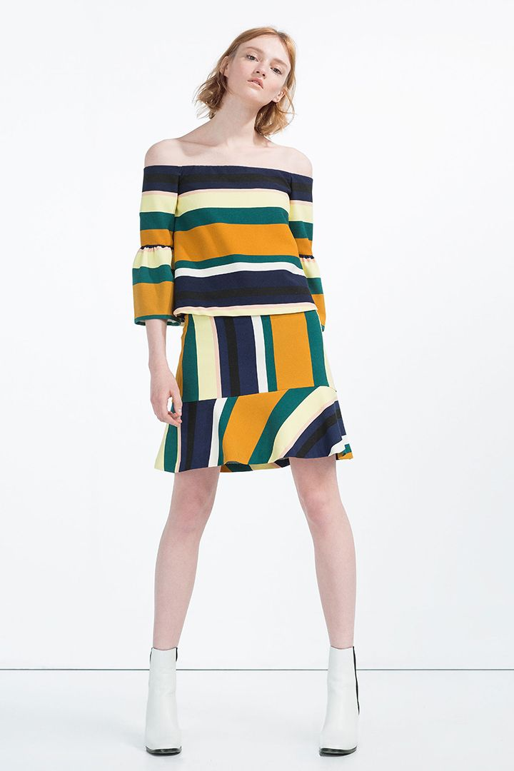 Zara: hits de 2016 | Faldas, Zara y Top a rayas