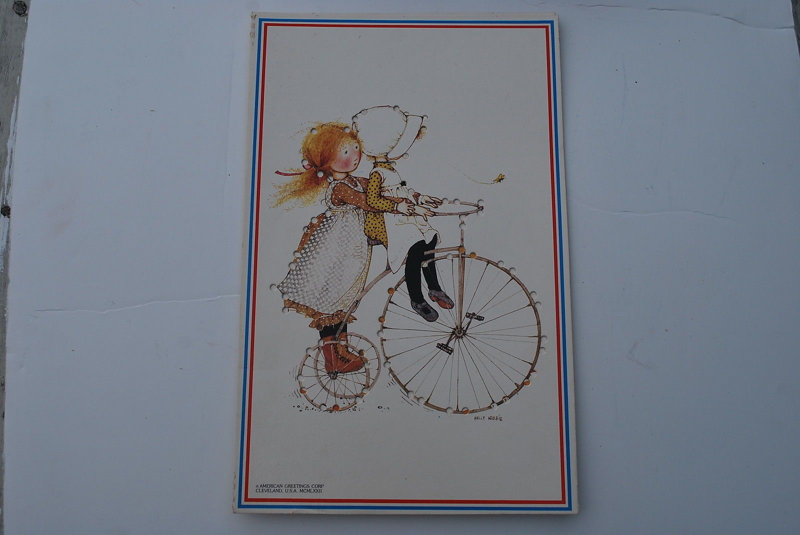 Vintage Colorforms Holly Hobbie Sewing Cards 3 of 6 with Box | eBay