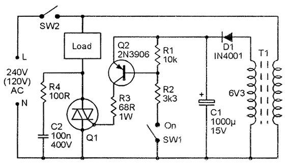 linear light dimmer by power mosfet
