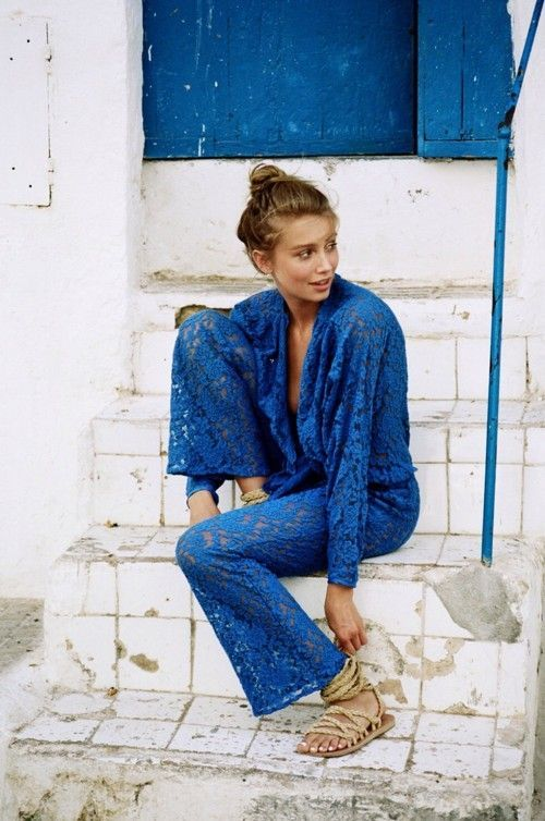 This blue lace jumpsuit is as close to perfection as it gets.