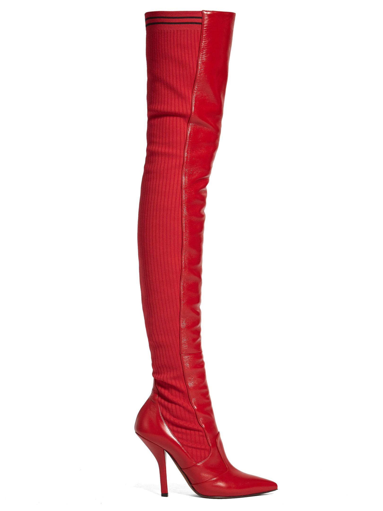 90e35b71124 FENDI OVER-THE-KNEE LEATHER SOCK BOOTS.  fendi  shoes
