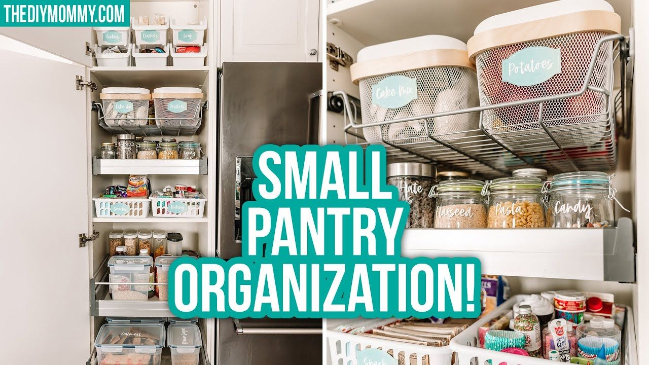 Small Pantry Organization Before After Dollar Tree Ikea Youtube Small Pantry Organization Pantry Organization Small Pantry