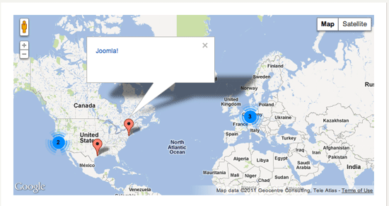 SP-GeoMap Module in Search Results Screenshot