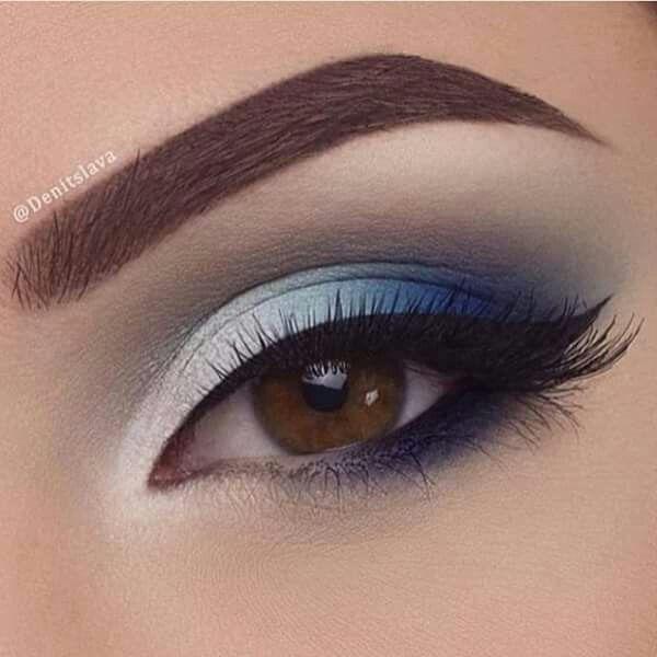 Beautiful Blue Eyeshadow Makeup Blue Eye Makeup Blue Makeup