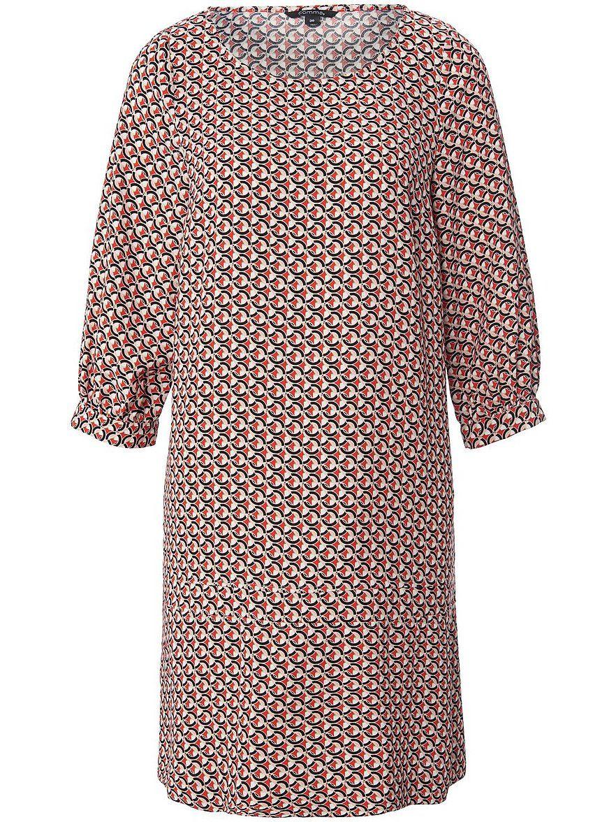 comma,   Kleid mit 9/9 Arm   Multicolor in 9   Rotes kleid ...