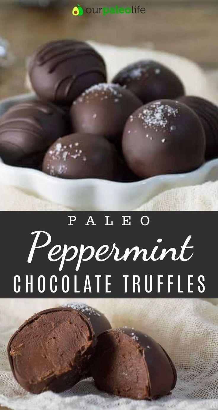 Paleo Peppermint Chocolate Truffles {dairy-free, nut-free} | Paleo Dessert