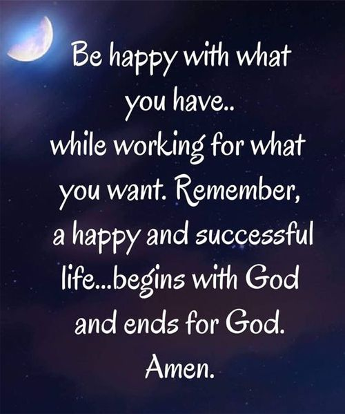 a happy and successful life begins god and ends for god