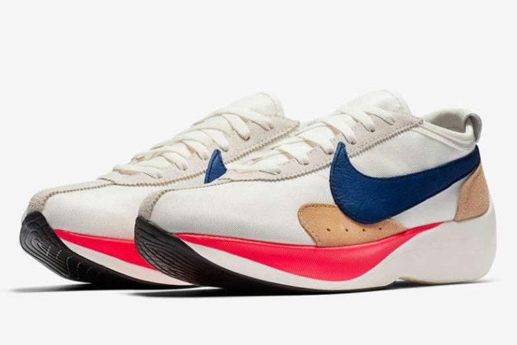 Nike Moon Racer Qs Sail Gym Blue Solar Red Praline Bv7779 100 Nike Nike Shoes For Sale Moon Shoes