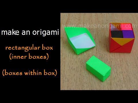 Origami Secret Drawer Box Tutorial - DIY - Paper Kawaii - YouTube | 360x480