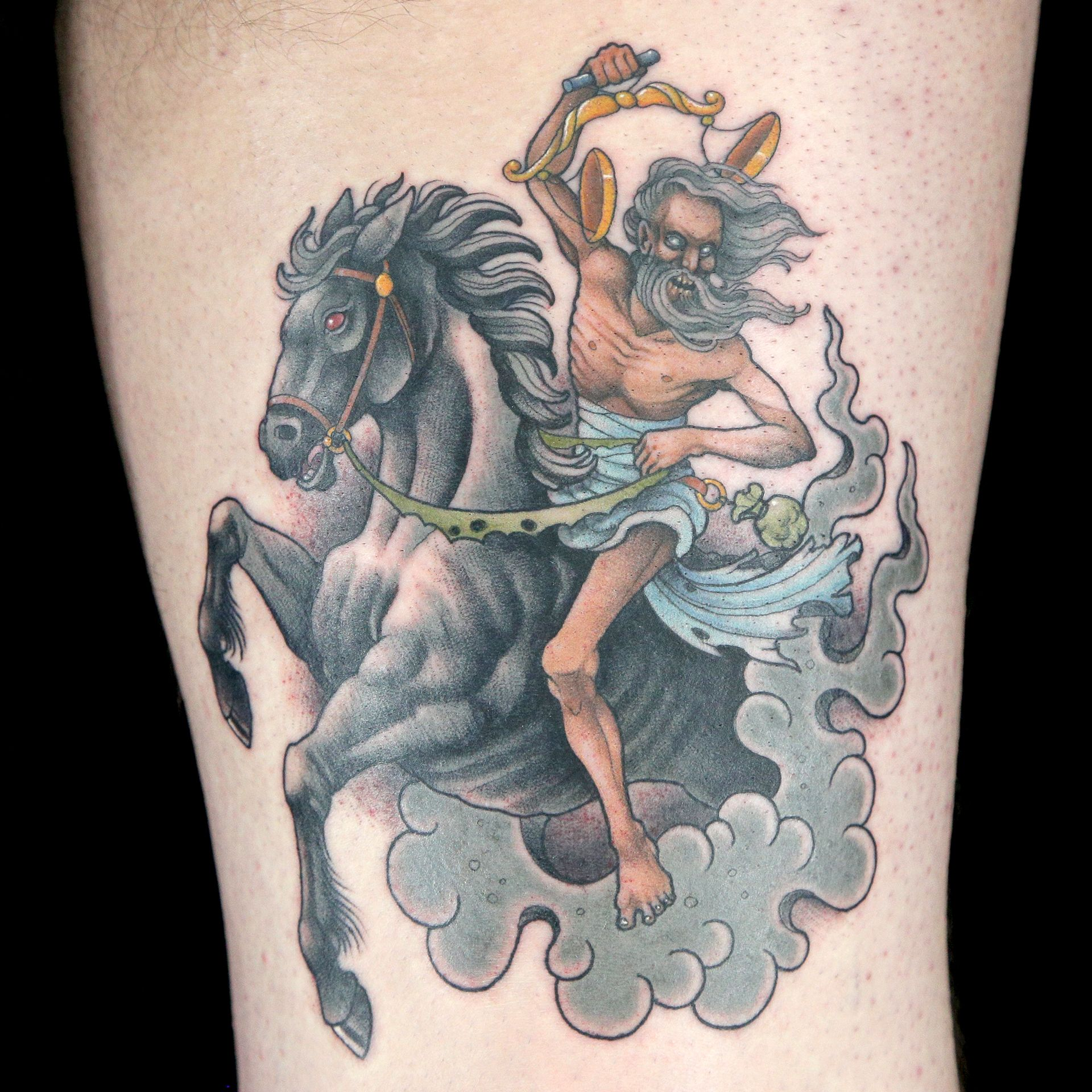 Horseman Of The Apocalypse Tattoo By Erin Chance Horseman Of The