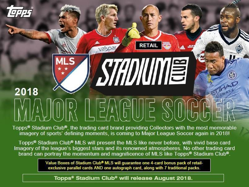 2018 Topps Stadium Club Mls Soccer Trading Cards New 8pk Retail Blaster Box Majorleagueandinternationals Mls Soccer How To Memorize Things Major League Soccer