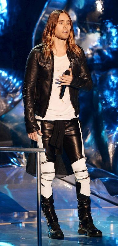 Jared Leto-  those pants! St Laurent - he can wear anything in this world and make it look good