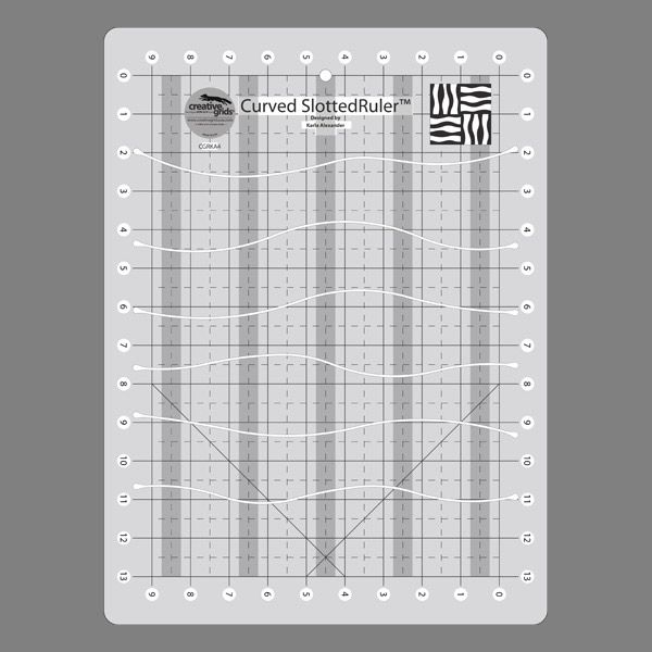 Creative Grids Usa Curves Slotted Ruler Quilting Rulers Ruler Quilting Blogs