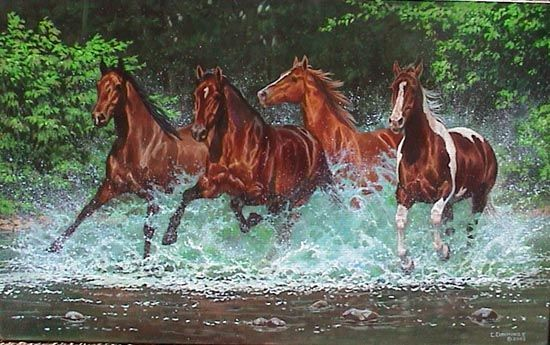 Art By Chris Cummings Wild Horse Pictures Horses Horse Pictures