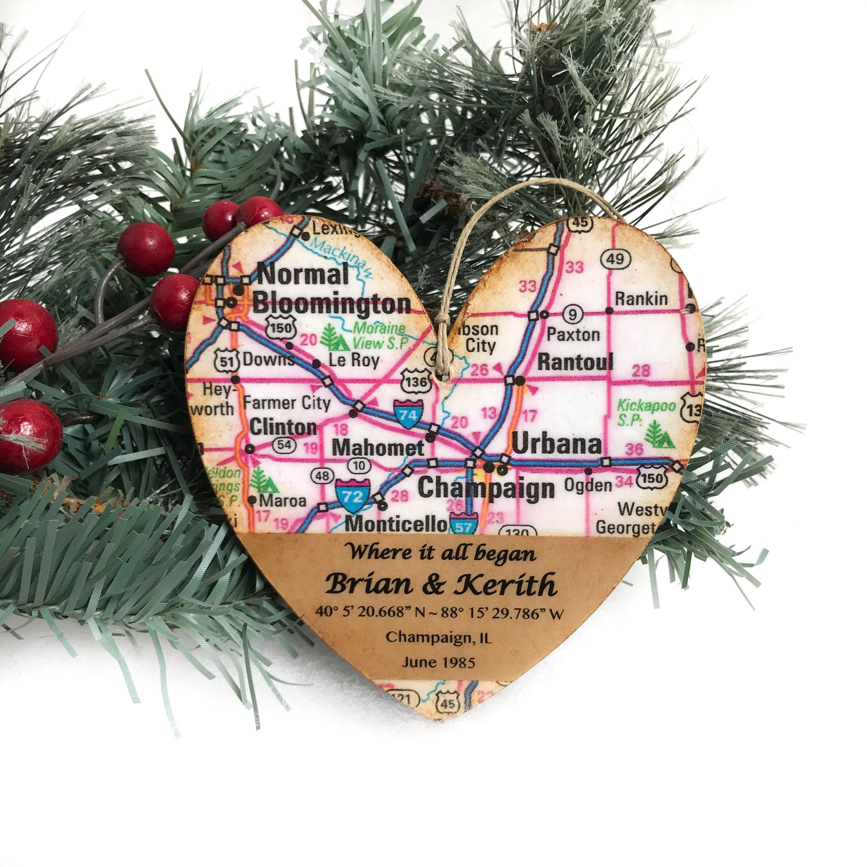 Personalized where it all began map ornament where it all began