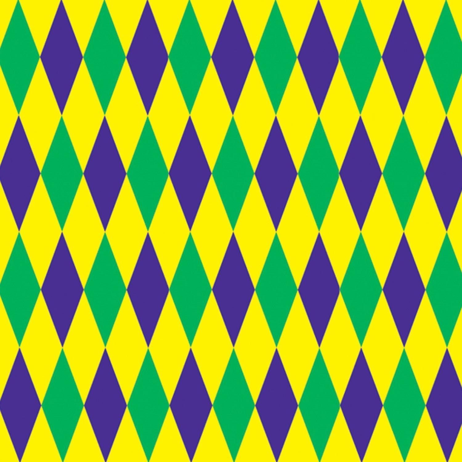Pack of 6 Mardi-Gras Harlequin Photo Backdrop Wall Decorations 4\' x ...